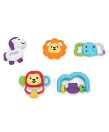 Winfun Safari Animal Teether Pack of 5 - Multicolour