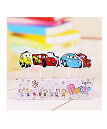 Party Propz Cars Themed Candle Set Multicolour - Pack of 5