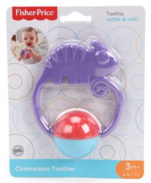 Fisher Price Rattle & Roll Chameleon Teether - Purple