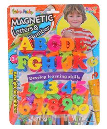Magnetic Letters & Numbers - Multi Colour