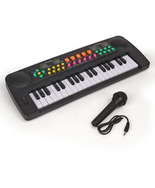 Keyboard With 37 Key Synthesizer - Black & White