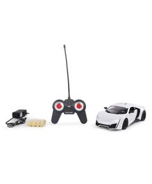 Remote Control Bonzer Car With Led Lights - White