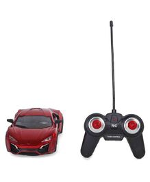 Remote Control Bonzer Car With Led Lights - Red