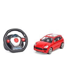 Remote Control Super Racers Speed Driver Car With Steering Wheel - Red