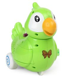 Battery Operated Parrot With Light & Music - Green