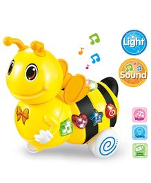 Battery Operated Bee With Light & Music - Yellow