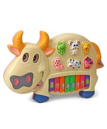 Musical Cow Piano - Beige