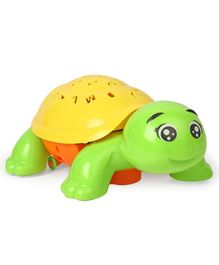 Battery Operated Turtle Projector With Lights & Music - Green