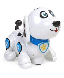 Battery Operated Doggy With Light & Music - Blue & White