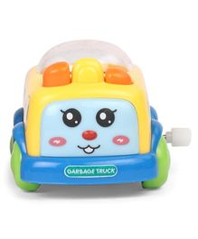 Garbage Truck Wind Up Toy - Yellow Blue & Green