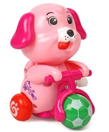 Doggy Shaped Wind Up Toy - Pink
