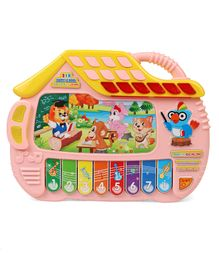 Musical Multi Animal Print Piano - Pink