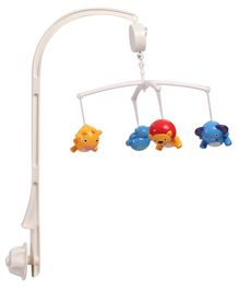 Musical Hanging Cot Mobile With 4 Rattles - Multi Colour