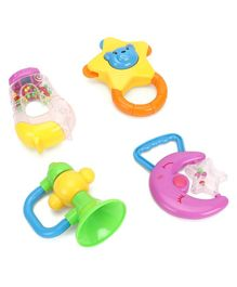 Baby Rattle Set Multi Colour - Pack of 4