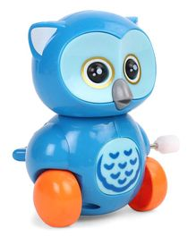 Owl Shaped Wind Up Toy - Blue