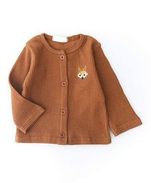 Pre Order - Awabox Long Sleeves Sweater - Brown