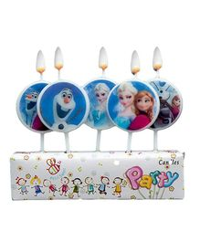 Party Propz Frozen Themed Candles Blue - 5 Pieces