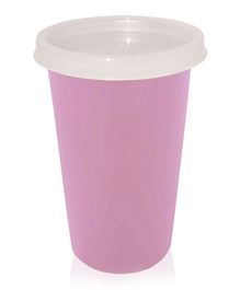 Falcon Steel Tumbler With Lid Pink - 300 ml