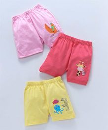 Ohms Shorts Multiprint Pack of 3 - Pink Yellow