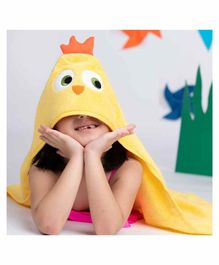 Rabitat Kids Hooded Towel Bird Design - Yellow
