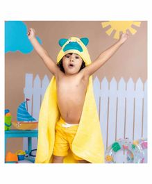 Rabitat Kids Hooded Towel Bear Design - Yellow