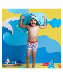 Rabitat Kids Hooded Towel Shark Design - Blue