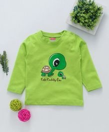 Babyhug Full Sleeves Tee Turtle Print - Green