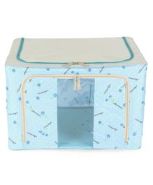 Storage Box Floral Print - Blue