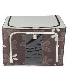 Storage Box Floral Print - Brown