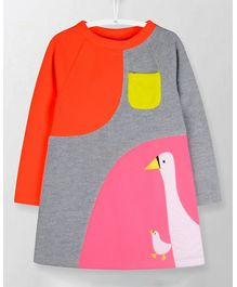 Cherry Crumble California Front Pocket Dress - Orange & Pink