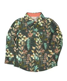 Crayonflakes Printed Full Sleeves Shirt - Green