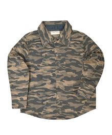 Crayonflakes Camouflage Print Full Sleeves Shirt - Brown
