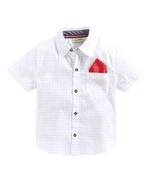 Crayonflakes Printed Half Sleeves Shirt - White