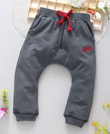 ToffyHouse Diaper Leggings Superpolo Embroidered - Dark Grey
