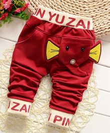 Pre Order - Awabox Elephant Theme Full Length Pants - Red