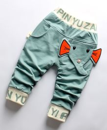 Pre Order - Awabox Elephant Theme Full Length Pants - Green