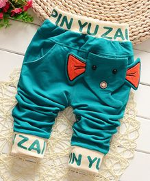 Pre Order - Awabox Elephant Theme Full Length Pants - Sea Green