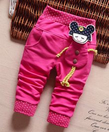 Pre Order - Awabox Doll Theme Full Length Pants - Dark Pink