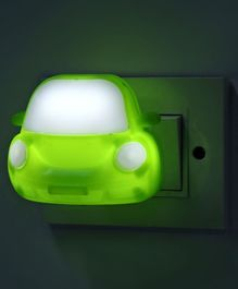 Car Shape LED Night Lamp - Green