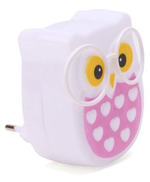 Owl Shape LED Night Lamp - White