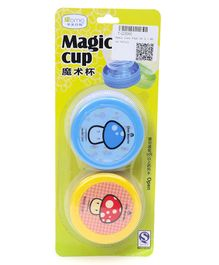 Magic Cups Pack Of 2 - Blue & Yellow