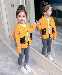 Pre Order - Awabox Long Sleeves Jacket With Pocket - Yellow