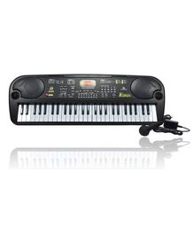 Abhiyantt 54 Key Electronic Keyboard With Microphone - Black