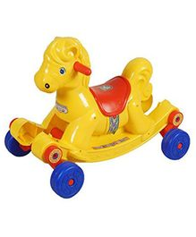 Abhiyantt 2 in 1 Gabru Horse Rocking Ride-on - ( Colour may Vary )