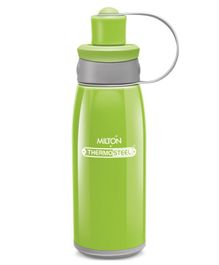 Milton Bravo Thermosteel Double Wall Insulated Sports Water Bottle Green - 400 ml