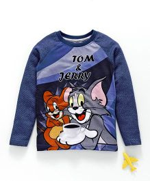 Eteenz Full Sleeves Tee Tom & Jerry Print - Royal Blue
