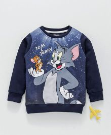 Eteenz Full Sleeves Tee Tom & Jerry Print - Navy