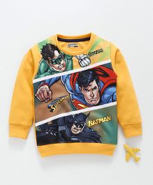 Eteenz Full Sleeves Tee Justice League Print - Yellow