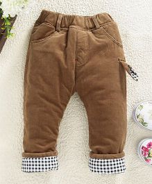 Kookie Kids Solid Full Length Bottoms - Beige
