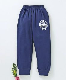 Fido Full Length Track Pant National Cup Print - navy